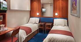 These Inside Staterooms Are The Most Affordable Way For You To Cruise With Room Up Four Youll Have Two Lower Beds That Convert Into A Queen Size